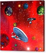 Star Ships Acrylic Print by Michael Rucker