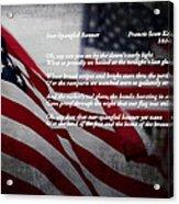 Star Spangled Banner  Acrylic Print by Ella Kaye Dickey