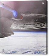 Star Trek - A New Civilization Acrylic Print by Jason Politte