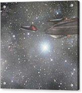 Star Trek - Approaching The Neutral Zone Acrylic Print by Jason Politte