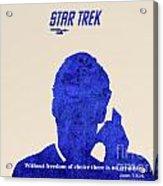 Star Trek Original - Kirk Quote Acrylic Print by Pablo Franchi