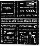 Star Trek Remembered Acrylic Print by Georgia Fowler