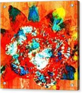 Starburst Nebula Acrylic Print by Roberto Prusso