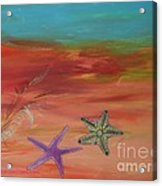 Starfish Acrylic Print by PainterArtist FIN