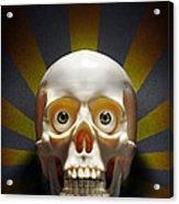 Staring Skull Acrylic Print by Carlos Caetano