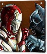 Stark Industries Vs Wayne Enterprises Acrylic Print by Vinny John Usuriello