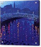 Starry Night In Dublin Acrylic Print by John  Nolan