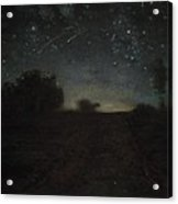 Starry Night Acrylic Print by Jean-Francois Millet