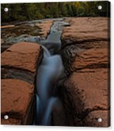 Starry Night Sluice Box Photography At Red Rock Crossing Acrylic Print by Mike Berenson