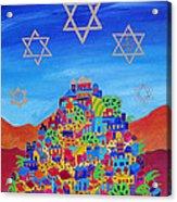 Stars Above Jerusalem Acrylic Print by Dawnstarstudios
