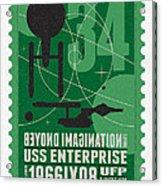 Starschips 34-poststamp - Uss Enterprise Acrylic Print by Chungkong Art