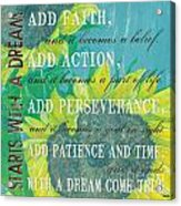 Starts With A Dream Acrylic Print by Debbie DeWitt