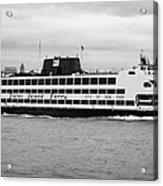 staten island ferry Andrew J Barberi new york usa Acrylic Print by Joe Fox