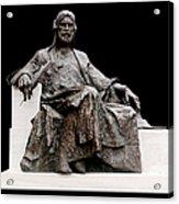 Statue Of Nizami Ganjavi  Acrylic Print by Fabrizio Troiani