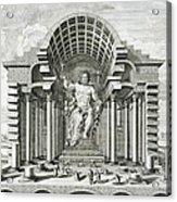 Statue Of Olympian Zeus Acrylic Print by Johann Bernhard Fischer von Erlach
