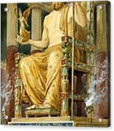 Statue Of Zeus At Oympia Acrylic Print by English School