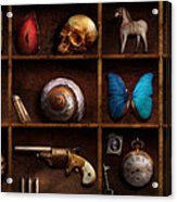 Steampunk - A Box Of Curiosities Acrylic Print by Mike Savad