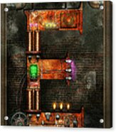 Steampunk - Alphabet - E Is For Electricity Acrylic Print by Mike Savad