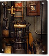 Steampunk - Back In The Engine Room Acrylic Print by Mike Savad