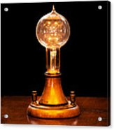 Steampunk - Electricity - Bright Ideas  Acrylic Print by Mike Savad