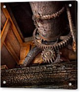 Steampunk - Gear - Out Of Order  Acrylic Print by Mike Savad