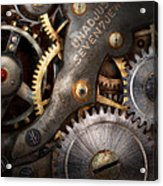 Steampunk - Gears - Horology Acrylic Print by Mike Savad