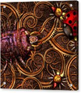 Steampunk - Insect - Itsy Bitsy Spiders Acrylic Print by Mike Savad