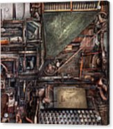 Steampunk - Machine - All The Bells And Whistles  Acrylic Print by Mike Savad