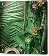 Steampunk - Naval - Plumbing - The Head Acrylic Print by Mike Savad