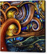 Steampunk - Starry Night Acrylic Print by Mike Savad
