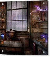 Steampunk - The Mad Scientist Acrylic Print by Mike Savad