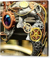 Steampunk - The Mask Acrylic Print by Paul Ward