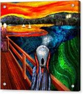 Steampunk - The Scream Acrylic Print by Mike Savad