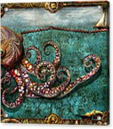 Steampunk - The Tale Of The Kraken Acrylic Print by Mike Savad