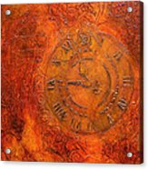 Steampunk Time Acrylic Print by Bellesouth Studio