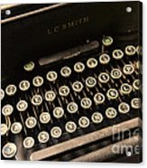 Steampunk - Typewriter - The Age Of Industry Acrylic Print by Paul Ward