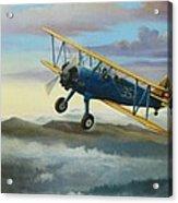 Stearman Biplane Acrylic Print by Stuart Swartz