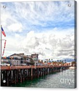 Stearns Wharf Santa Barbara California Acrylic Print by Artist and Photographer Laura Wrede