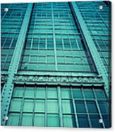 Steel And Glass Acrylic Print by Edward Fielding