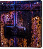 Steel Door Number Three Acrylic Print by Bob Orsillo