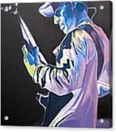 Stefan Lessard Colorful Full Band Series Acrylic Print by Joshua Morton