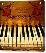 Steinway Golden Grand  Acrylic Print by Colleen Kammerer