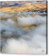 Steptoe Fog Clearing Acrylic Print by Mike  Dawson