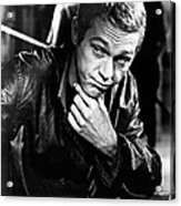 Steve Mcqueen Hand On Chin Acrylic Print by Retro Images Archive