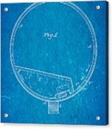 Stevens Roller Coaster Patent Art 1884 Blueprint Acrylic Print by Ian Monk