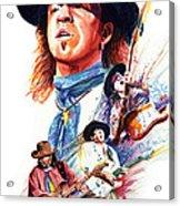 Stevie Ray Vaughn Acrylic Print by Ken Meyer jr