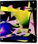 Still Life In Geometric Art Acrylic Print by Mario Perez
