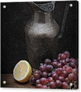Still Life With Grapes Acrylic Print by Krasimir Tolev