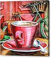 Still Life With Green Dutch Bike Acrylic Print by Mark Howard Jones