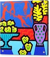 Still Life With Matisse Acrylic Print by John  Nolan